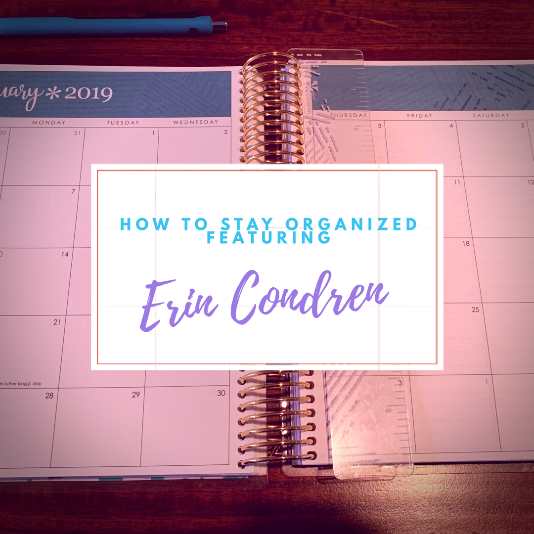 I love using my Erin Condren Life Planner to stay organized. I write my to do lists, appointments, bills, goals, etc in here.
