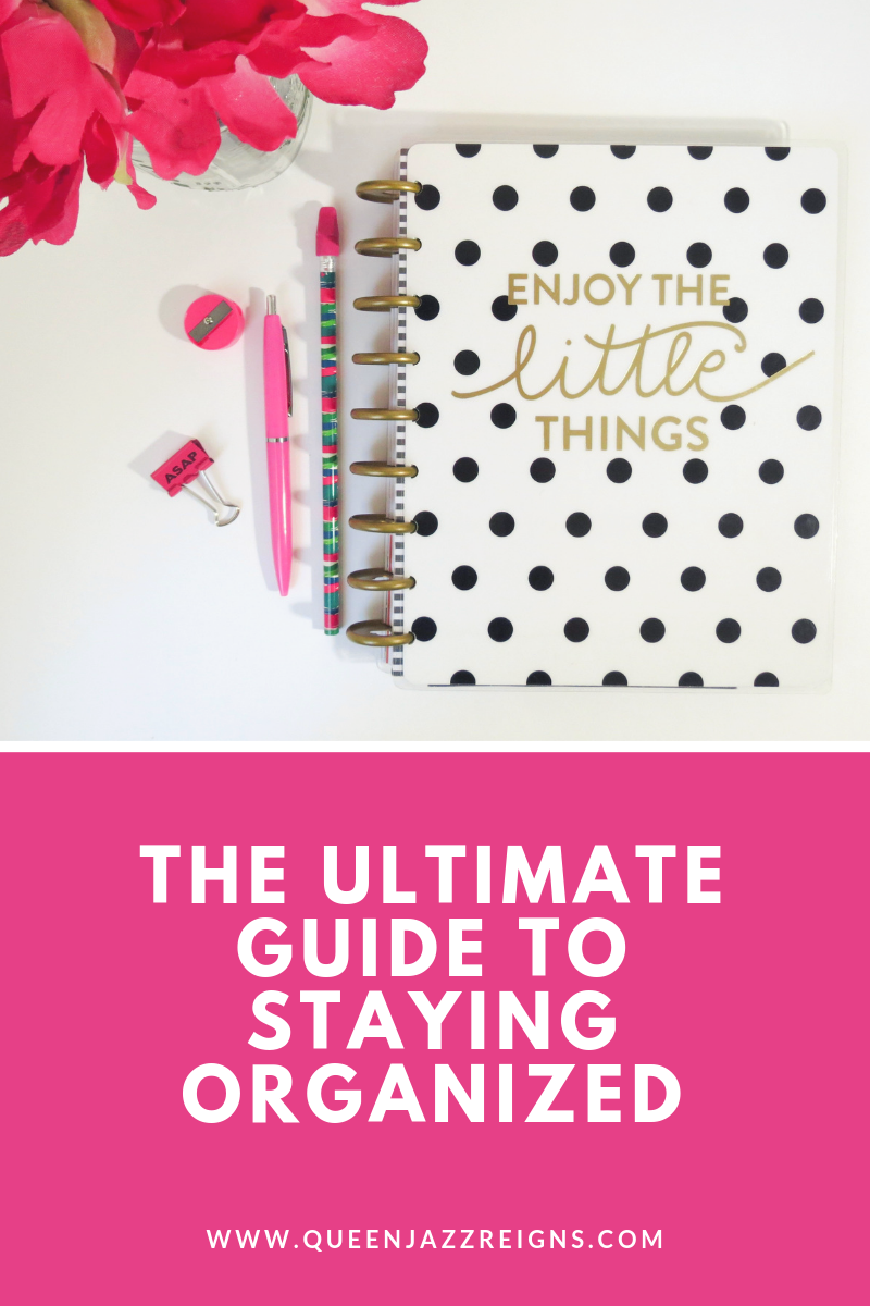 Do you want to be a more organized individual but don't know where to start? Well, I have 5 items that help me stay organized and it can help you too! Check out all the steps I take to live an organized and productive life.