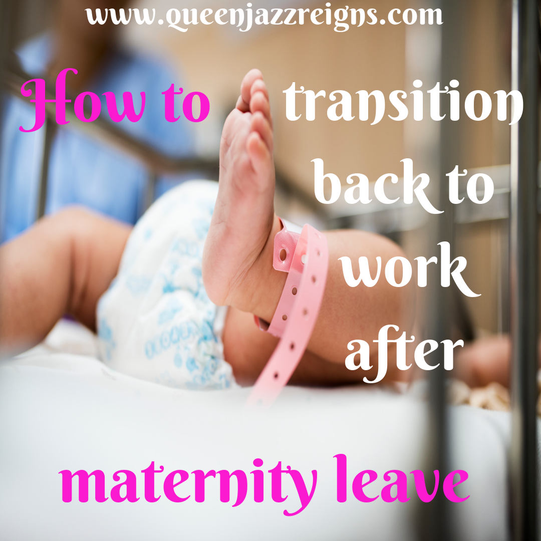 I recently returned to work from maternity leave. While it was bittersweet to be back at work, I missed my baby so much. Before going back to work, there were a few things that I had to do to help make sure I was making the transition the best it could be. I had to find a daycare, make sure I had enough milk set aside for my child's first day, and realize that it was going to take time to fully transition. Support at home is extremely important. It's easy to feel overwhelmed during this time. Head over to my blog to read my tips for how to effectively transition.